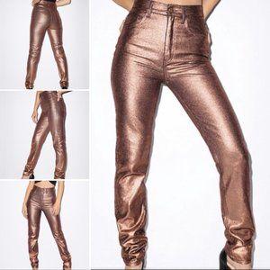 NWT American Apparel Metallic The High Waist Jean